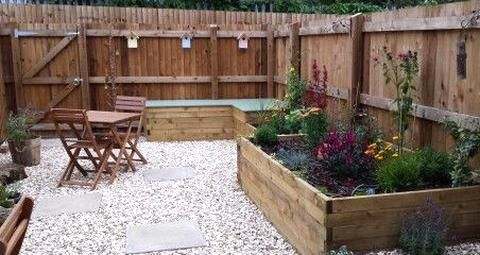 My Small Garden From A Mud Pile To An Easily Maintainable Garden With Built In Storage And Wildlife Frie In 2020 Pond Water Features Small Garden Belfast Sink Surround