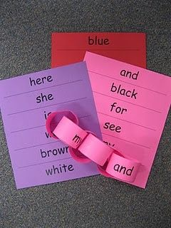 Sight Word Chains:  each child adds to their chain as they master Dolch Words throughout the year.: