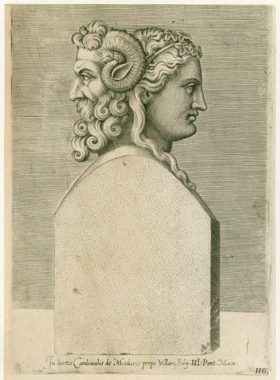 Bust of the Roman God Janus, after whom the island of ...