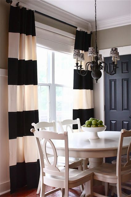 White Curtains black and white curtains for kitchen : The Yellow Cape Cod: My Kitchen Makeover Details and Product ...