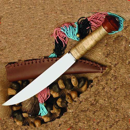 Kongo African Plains Knife w/ Leather Sheath
