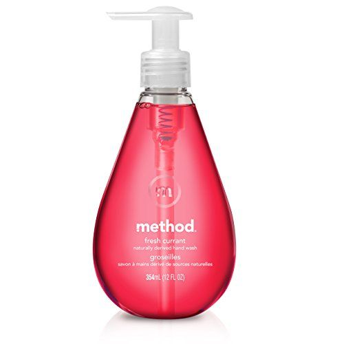 Method Naturally Derived Gel Hand Wash Pump Fresh Currant 12 Ounce