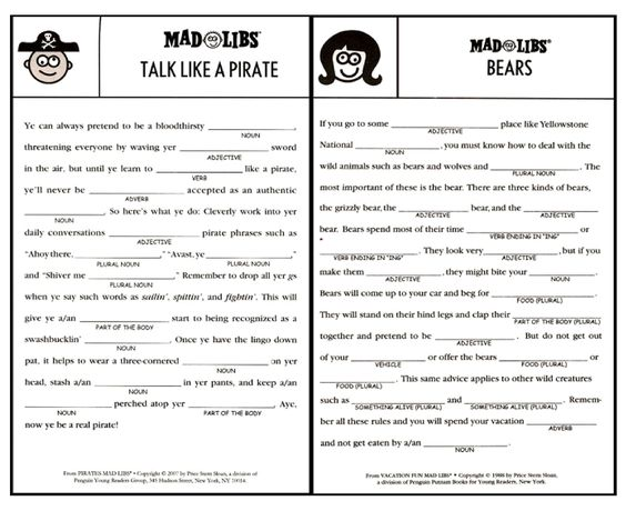 Adult Mad Libs Worksheets: printable mad libs sheets for adults   Google Search   Projects to    ,