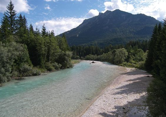 Isar river by Mittenwald