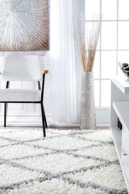 Teppich Colona in Grauweiß/Weiß | Weißer teppich ...