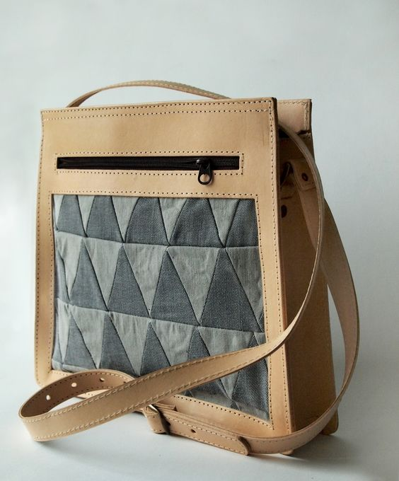 Around Collective/Mocklis Bag of recykeld material. Slow fashion, denim, re-design
