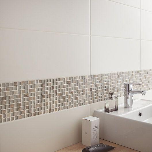 Mosaïque Fusion bois ARTENS, bois, 15x15 cm Association avec un - carrelage salle de bain petit carreaux