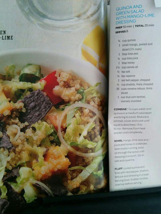Quinoa And Green Salad With Mango Lime Dressing Mango Salad
