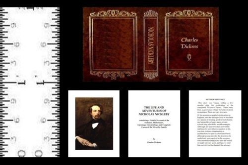 1:12 SCALE MINIATURE BOOK NICHOLAS NICKLEBY CHARLES DICKENS