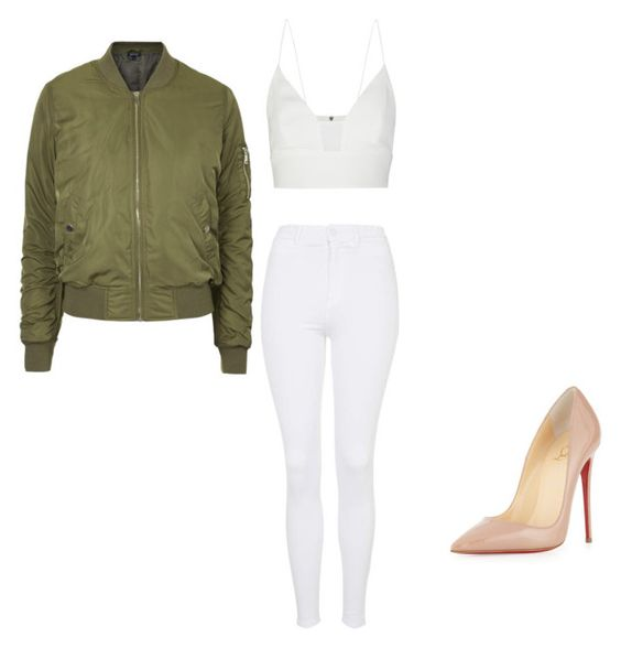 """""""Untitled #30"""" by thabile-zungu on Polyvore featuring Topshop, Narciso Rodriguez and Christian Louboutin"""