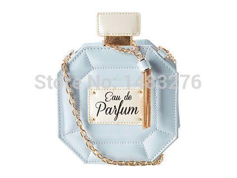 Frasco de perfume de couro cadeia de embreagem mulheres bolsa carteiras sacos de festa bolsas bolsa carteira em Clutches de Bagagem & Bags no AliExpress.com | Alibaba Group