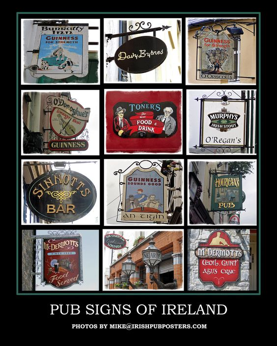Pub Signs Posters - Click image above to purchase poster. $20