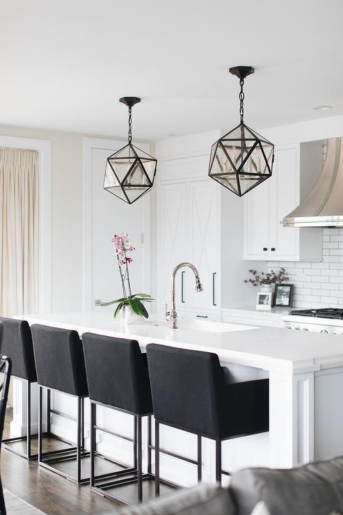 Black Barstools Black Bar Stools Kitchen White Modern Kitchen