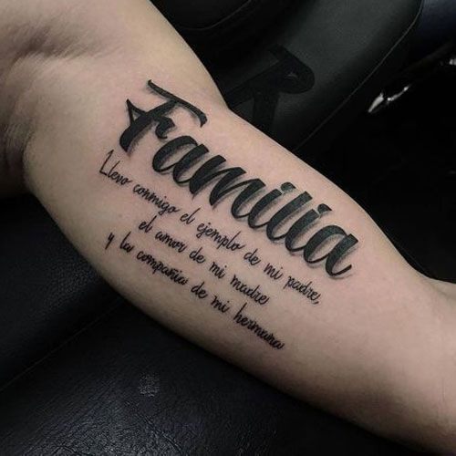 49 Best Family Tattoos For Men Meaningful Designs Ideas 2019 Update Family Tattoo Designs Bicep Tattoo Family Tattoos For Men