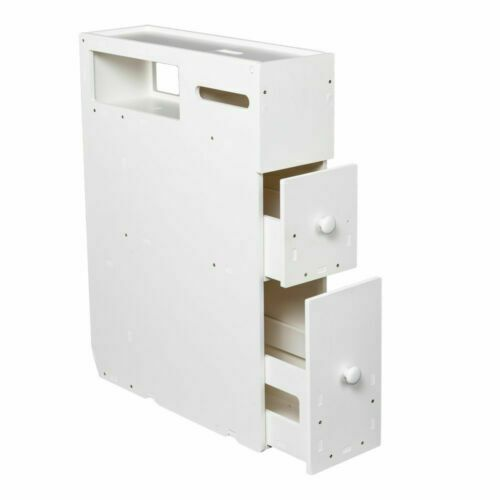 Find Many Great New Used Options And Get The Best Deals For White Floor Bath Cabinet Me Toilet Paper Storage Drawers For Sale Wood Storage Cabinets