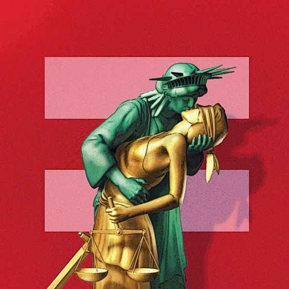 liberty kissing justice - Google Search