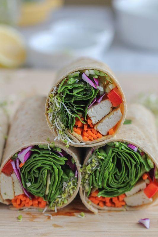 Wrap apéritif végétarien - 15 idées de wraps pour un apéro léger - Elle à Table
