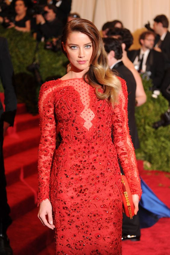 Amber Heard - Met Gala at the Metropolitan Museum of Art 2013