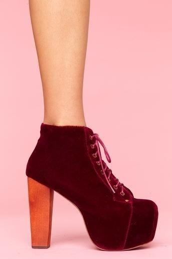 Lita Velvet Platform #boot in wine #shoes