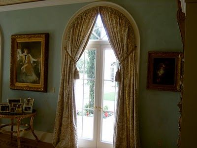 Arched window treatment inside of casement for the home for Best window treatments for casement windows