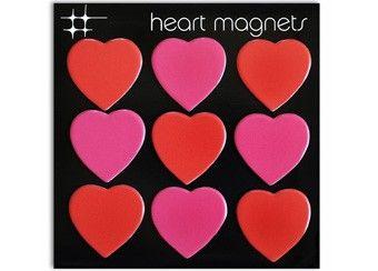 Liebliches Set mit 9 Herz-Magneten