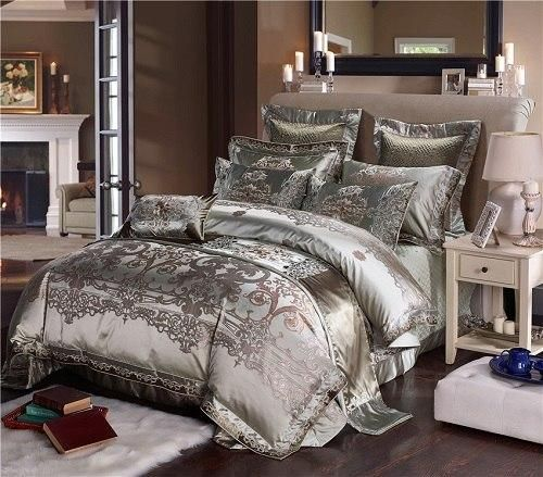 Luxury Royal Palace Bedding Set Queen King Size Cotton Bed Sheets
