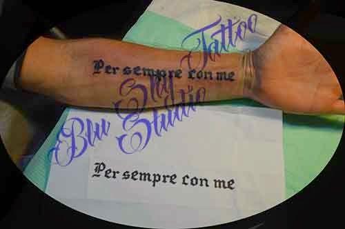 Blu Sky Tattoo Studio: Lettering 64