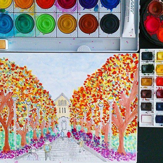 My Sunday doodles... Autumn in my mind  #notanartist #tryinghard #workinprogress #colors_ofourlives #doodle #watercolor #winsorandnewton #autumn #fallcolors #fall #sketch #sketchoftheday #art #urbansketch #usk #illustration #artlife #talentedpeopleinc #inktober #drawing #sketchbook by himmelflocken