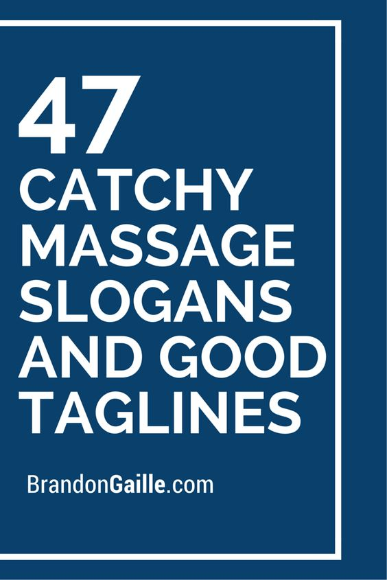 massage slogans