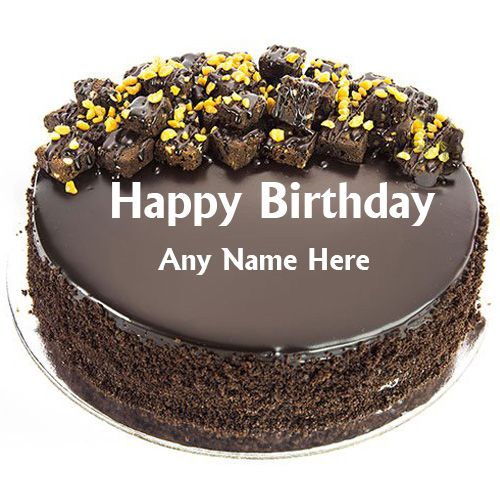 Birthday Chocolate Cake Images With Name Editor In 2020 Happy