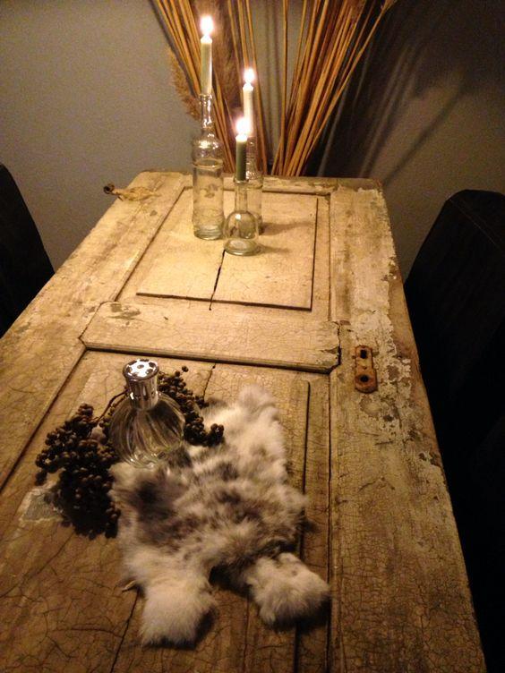 Van oude Franse deur tot eetkamer tafel