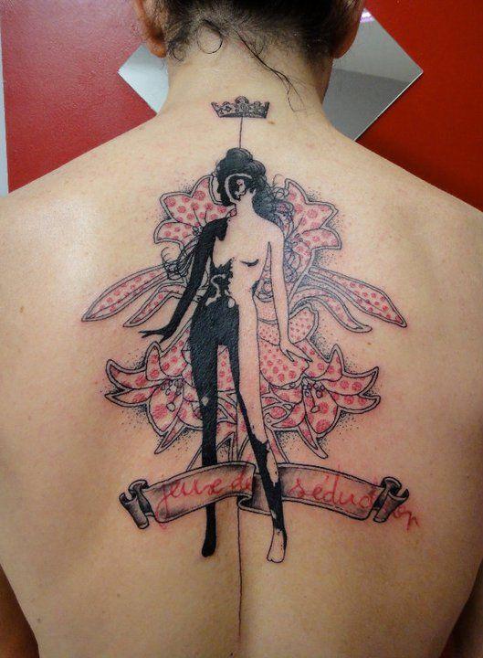 needles side tattoo