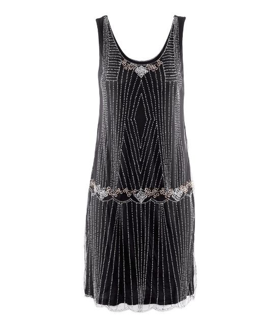 Black flapper bridesmaid dress