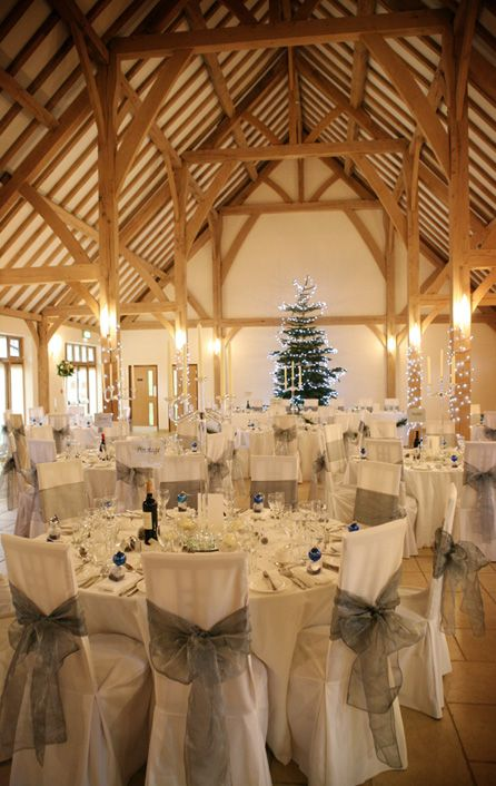 Rivervale Barn dressed for a Christmas wedding, it looks amazing! Did you just get engaged? Print all your #Wedding Stationery with #CardsMadeEasy
