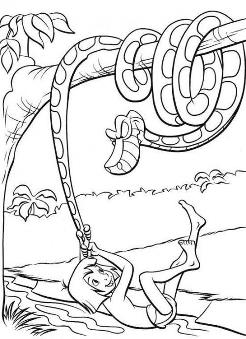 The 8 best images about Coloring Pages Jungle Book on Pinterest