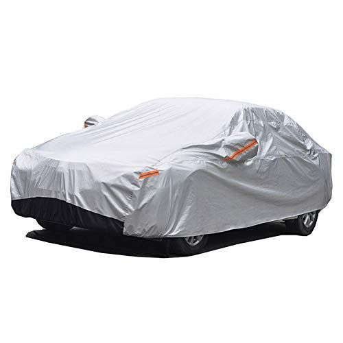 Gunhyi Winter Car Covers Four Layers Waterproof All Weather Sun Rain Dust Snow Protection For Automobiles Outdo Car Covers Snow Protection Cool Car Accessories