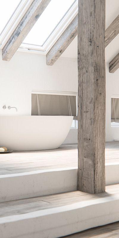 Piet Boon design badkamer kranen bycocoon.com | Piet Boon® by COCOON design bathroom faucets in inox brushed stainless steel | bathware | COCOON freestanding bathtub | bathroom design | minimalist bathroom | wellness design | spacious loft bathroom | Dutch Designer Brand COCOON