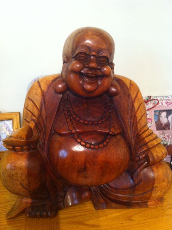 My beautiful Buddha!!! All polished in linseed oil :-)