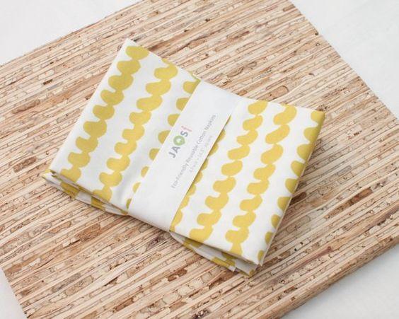 Large Cloth Napkins Set Of 4 N3060 Hop Yellow Mustard