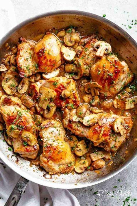 Stovetop Garlic Mushroom Chicken