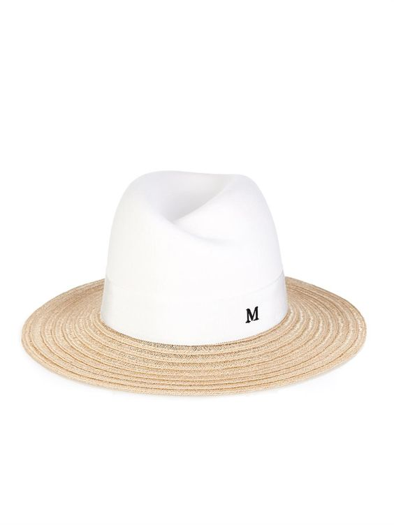 Maison Michel Virginie straw and felt fedora