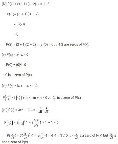 Ncert Solutions For Class 9 Maths Chapter 2 Polynomials Ex 2 2 Polynomials Math Solutions