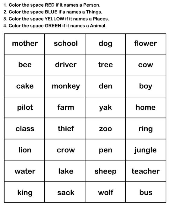 Naming Words Worksheet9 - esl-efl Worksheets - kindergarten ...