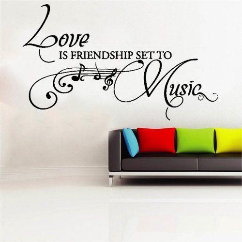 East Urban Home Wall Decal Love Is Friendship Wayfair De Wall