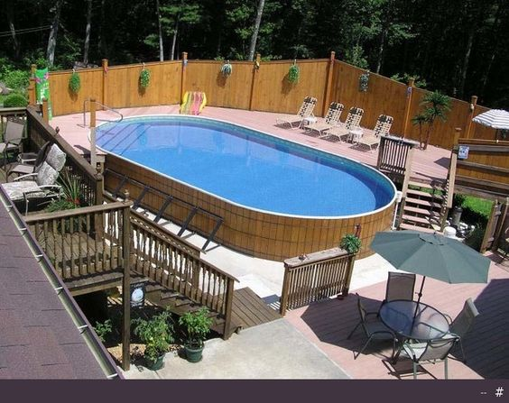 Oval 15 X 30 Swimming Pool Designs Below Ground | Above Ground Wooden Swimming  Pools U2013 Modern U2013 Swimming Pools And ... | Pool Ideas | Pinterest | Pool ...