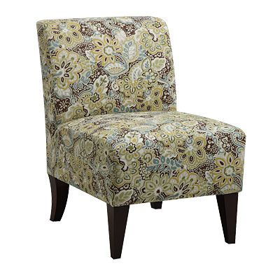 Armless Accent Chair Kinsey Peacock At Big Lots Decor