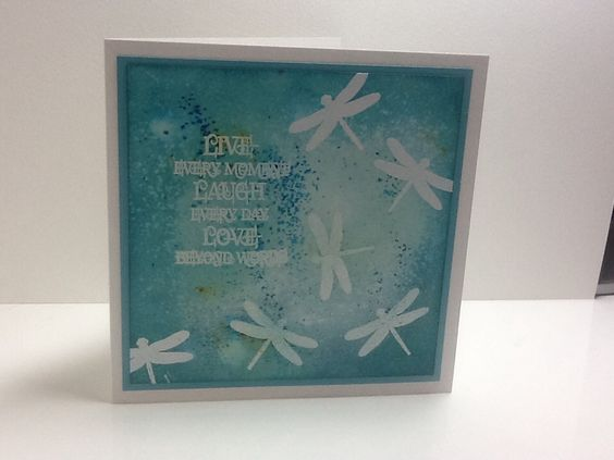 Handmade card by Julie Kenny, using Brusho inks