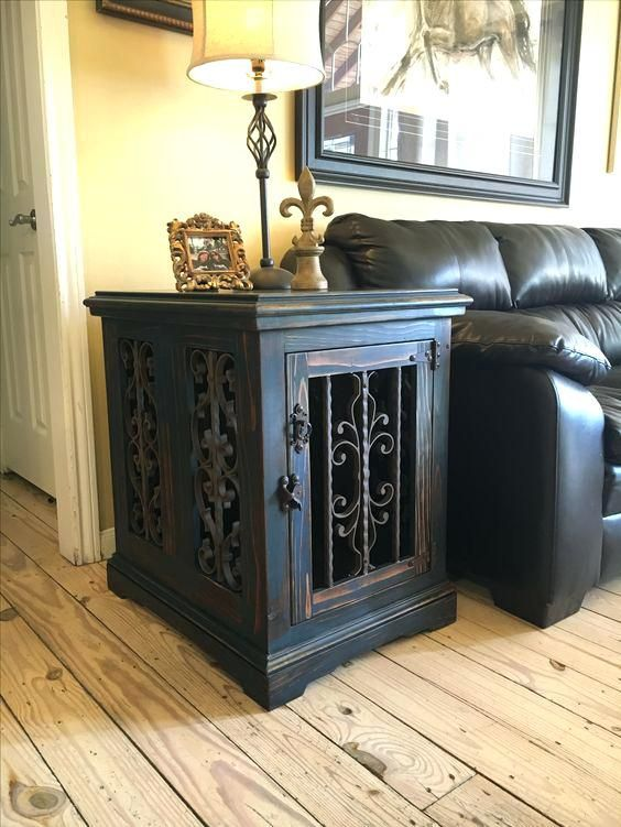 Large Dog Crate Furniture Plans End Table Kennel Wooden Canada
