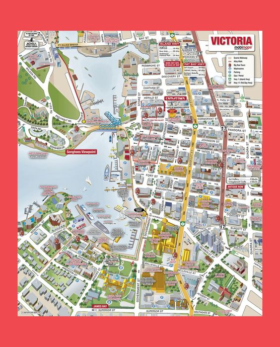 VictoriaCityTouristMapjpg 1600 1982 – Seattle Tourist Map