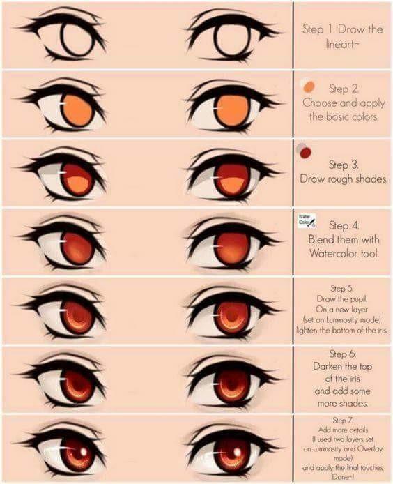 Image Result For Brown Anime Eyes Digital Art Beginner Digital Art Tutorial Digital Painting Tutorials